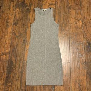Gray Bodycon Tank Dress